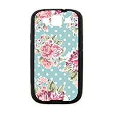 buy Romantic Pink Roses Black Stylish Cover Case & Dust Plug For Samsung I9300 Galaxy S3 With High-Quality Silicon Rubber