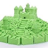 100G Juguetes Juegos de Arena Puede Apilar Y Construir Forma de Ajuste Y Esculpir Super Divertido - Verde
