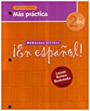 Level 2 Mas Practica Cuaderno with Lesson Review Bookmarks