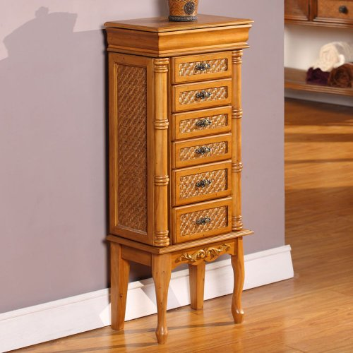 Dark Wood Jewelry Armoire front-1031058