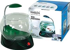 Hailea fish bowl with led light pet for Fish bowl amazon