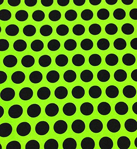 [Knit Monster Green Big Dots Design Fabric By the Yard, 95% Cotton, 5% Lycra, 60 Inches Wide, Excellent Quality, 4 Way Stretch, medium weight (1] (Awesome 3 Person Halloween Costumes)