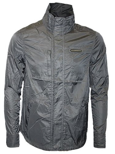 New Mens Pewter Police 883 Jeans Golfo Designer Branded Zipped Jacket Coat Size L