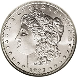 1897 O Morgan Silver Dollar MS 65