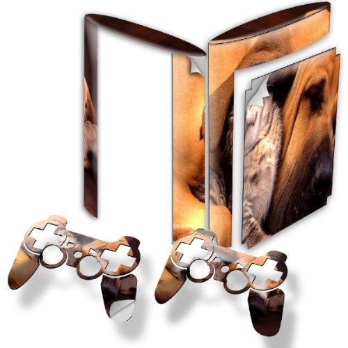 """""""Dogs"""" 10015, Snuggle Edition, Sticker For Playstation 3 Super Slim Game Console."""