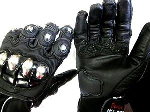 FIRE ROLLER 本革仕様 甲殻皮グローブ L バイク バイカー ツーリング 保護具 手袋