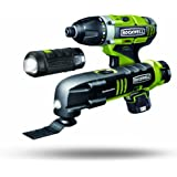 Rockwell RK1003K2 LithTech 12-Volt 3-Piece Kit - 3RILL, SoniCrafter, Flashlight