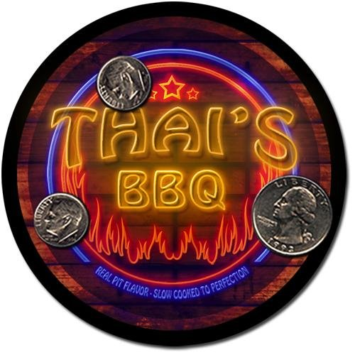 Thai'S Barbeque Drink Coasters - 4 Pack