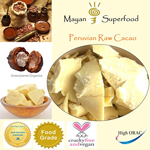 Raw Super Food: Fair-Trade Raw Cacao Butter (Pure Peruvian Raw Cacao Butter 1lb)