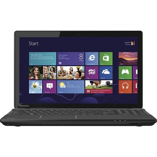 Toshiba Acolyte C55DT-A5305 15.6 Touchscreen Laptop PC - AMD Quad-Core A6 / 4GB DDR3 / 750GB HD / HD Webcam & Microphone / Built-in wireless LAN / DVD�RW/CD-RW Travel / Windows 8.1 64-bit