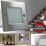 10er Set Wandleuchte GRAZIO LED 230V IP54 ***GARANTIE 3 Jahre*** Wandeinbauleuchte Einbaustrahler Stufenlicht...
