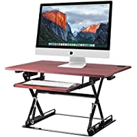 Halter ED-257 Pre-Assembled Height Adjustable Desk Sit (Cherry)