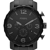 Fossil Herren-Armbanduhr XL Nate Quarz-C...
