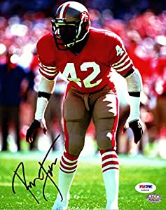 Ronnie Lott Autographed 8x10 Photo San Francisco 49'ers PSA/DNA at
