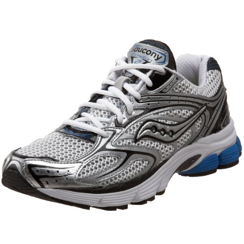Saucony Men's ProGrid Echelon 2 Running Shoe,White/Silver,10.5 W US