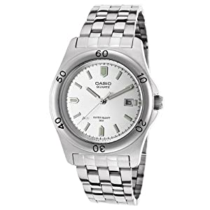 Casio MTP-1213A-7AVDF 38mm Silver Steel Bracelet & Case Mineral Men's Watch