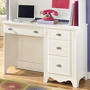 White Youth Bedroom Desk by Famous Brand Furniture