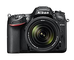 Nikon D7200 24.2 MP Digital SLR Camera (Black) with AF-S 18-140mm VR Kit Lens and Card, Camera Bag