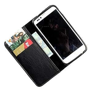 i-KitPit PU Leather Wallet Flip Case Cover For HTC Desire 816 (Black)