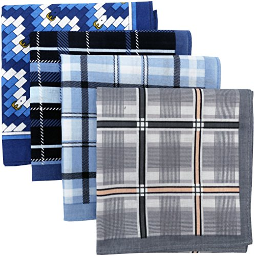 Leevo-Handkerchief-Men-Assorted-Woven-Cotton-100-Hankies-Fashion-Gift-Box-Bulk