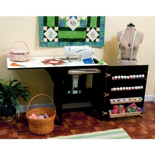 Arrow 503 - Sewnatra Sewing Cabinet - Black Material - Wood
