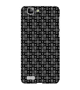 ifasho Modern Theme of black and white Squre and dots Back Case Cover for VIVO X3S