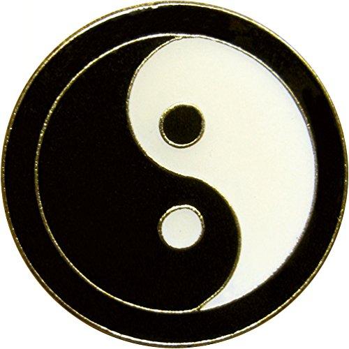 Black & White Yin Yang (Balance, Harmony) Enamel Pin