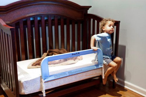 Dream On Me Mesh Security Crib Rail, Blue