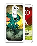 Custom Design Disney Lilo And Stitch White LG G2 cell phone case