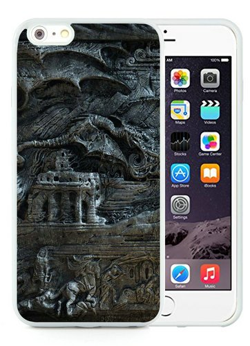 Generic iPhone 6 Plus Case,The Elder Scrolls Skyrim Bas Magician Dragon Fantasy White Shell Case for iPhone 6S Plus 5.5 Inches,TPU Cover