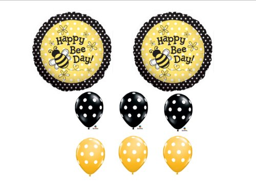1 X Happy Bee-Day Birthday Buzz Bumble Bee Bouquet Balloon Set Party Decoration