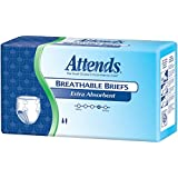 Attends Extra Absorbent Breathable Briefs, X-Large, Pack/20
