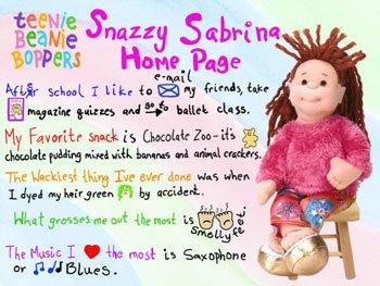 Ty Teenie Beanie Boppers Snazzy Sabrina - 1