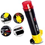 UNIFUN® Mini 3000mAh Auto Car Safety Hammer Emergency Escape Tool w/SOS Flashlight/Window Breaker/Powerful Magnetic Base & Portable USB Charger Extended External Battery Pack for iPhone 6 plus 5s 5 4s, iPad Air Mini, Galaxy S5 S4 S3, Note 4 3 2, LG G3,HTC One M8, PS Vita, MOTO X,Smartwatch and More