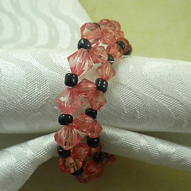 Meno's Beads Wedding Napkin Ring, Acrylic Dia 4.5cm цены онлайн