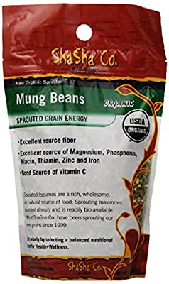 ShaSha Organic Gluten Free Sprouted Mung Beans Bio Buds, 16 Ounce by ShaSha