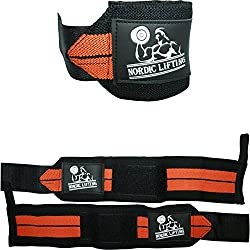 Wrist Wraps (1 Pair/2 Wraps) for Weightlifting/Crossfit/Powerlifting/Bodybuilding - For Women & Men - Premium Quality Equipment & Accessories for the Absolutely Best Hand Strength & Support Possible - Guard & Brace Your Wrists With this Gear to Avoid Inju