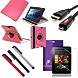 Fosmon 6 in 1 Bundle for Amazon Kindle Fire HD 7