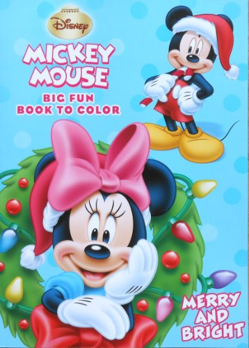 "Disney Mickey Mouse Holiday ""Merry and Bright!"" Christmas Coloring Book"