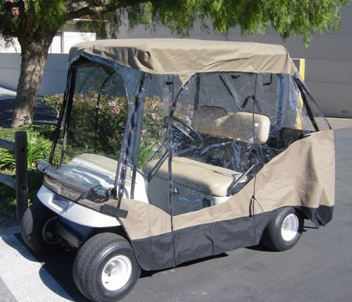 Golf Cart Driving Enclosure for 4 seater with 2 seater roof up to 60