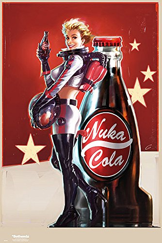 "Poster Fallout 4 ""Nuka Cola girl"" (61cm x 91,5cm)"