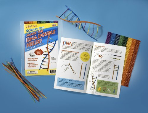 Kit Includes 48 Wikki Stix (Only 6 Are Needed To Make One Double Helix-This Kit Will Serve 8 Students) - Wikki Stix DNA Double Helix Kit