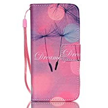 """buy Iphone 6 Plus Case, [Kickstand] Premium Pu Leather Wallet Flip Cover, Detachable Wrist Strap Phone Cover Card Holder For Apple Iphone 6 Plus 5.5"""" [Dreaming Design] +1 Stylus And Screen Film"""