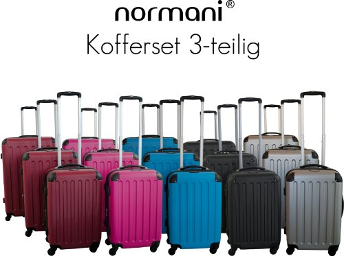normani® Reisekoffer, Trolley, Koffer aus Polycarbonat
