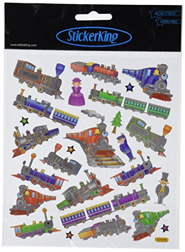 Multi-Colored Stickers-Trains