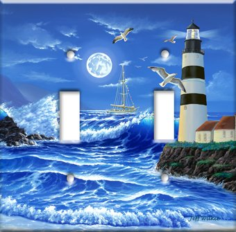 Images for Lighthouse at Night Switch Plate - Single Toggle