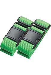 Belle Hop Neon Luggage Belt - set of 2