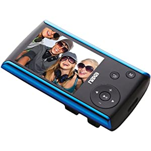 Naxa NMV-174BL Portable Media Player with 2.4-Inch Touch Screen (Blue)