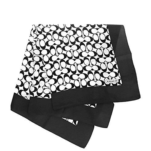 [コーチ] COACH アパレル(スカーフ) F84270 ブラック×ホワイト シグネチャー スカーフ レディース [アウトレット品] [ブランド] [並行輸入品]