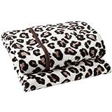 Fun & Funky Fleece Pram Blanket Leopard print by Clair de Lune